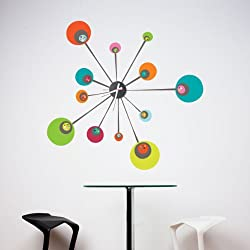 Mur-Mur Atom Wall Stickers for clock Color print