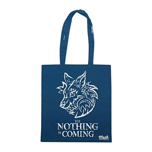 Comprar Borsa Nothing Is Coming - La storia infinita- Blu Royal - Film by Mush Dress Your Style Para Pre Barato s1vt2