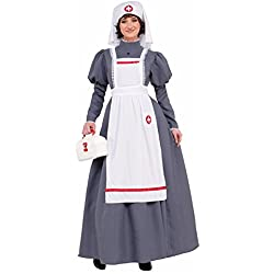 Forum Novelties American Civil War Nurse Costume Womens Dress Red Cross Barton Nighti Nightingale 14-16