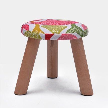 C EU90 Coffee table stool fashion stool solid wood stool creative shoe stool fabric sofa stool - small stool (color   E)