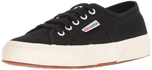 Superga Unisex 2750 Cotu  Black Classic Sneaker - 39 M EU / 8.5 B(M) US Women / 7 D(M) US Men (Eyelet Mini Skirt)