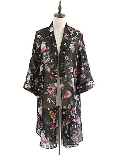 PERSUN Women Batwing Sleeve Kimono