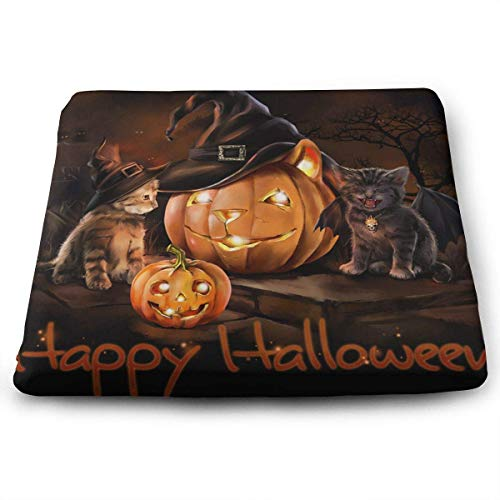 (CXHKJ Halloween Cats Square Chair Seat Cushion Classic Square Cushion Floor Pillow for)