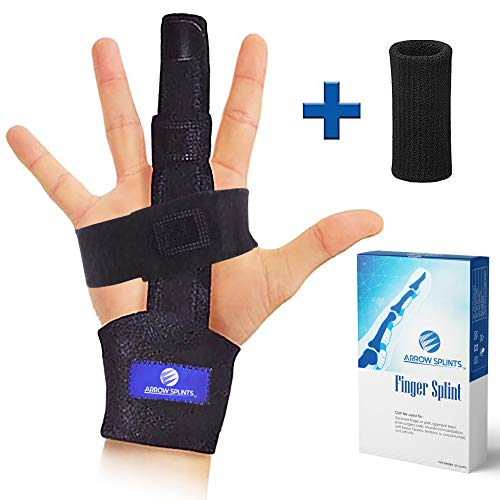 Finger Extension Splint for Trigger Finger, Mallet Finger, Arthritis Finger Splint. Pain Relief from Tendonitis, Broken or Fractured Finger. Provides Index, Pinky, Middle, Ring Finger Immobilization