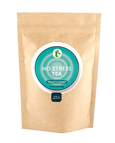 (Top to Toe Wellness - No Stress Tea for Relaxation | 100% Natural Anti Anxiety Tea | Calm Body and Mind, Sleep Aid, Stress Relief | With Peppermint, Chamomile and Lemon Balm | Loose Leaf 84 grams)