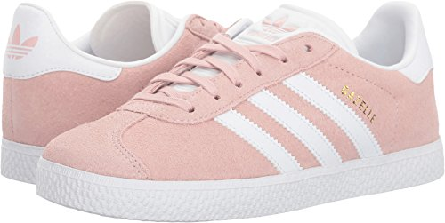 adidas Originals  Girls' Gazelle J Sneaker, Ice Pink/White/Metallic Gold, 6 M US Big Kid (Adidas Women Shoes Gazelle)