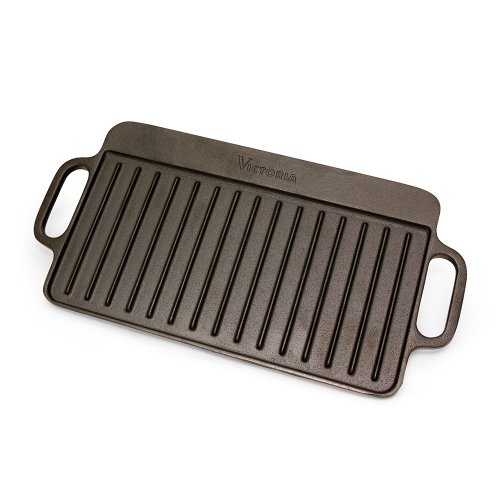 Cast Iron Griddles For Gas Grills ~ Victoria reversible cast iron griddle gas grill oven