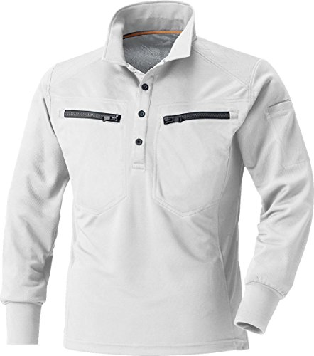 MK:270 肩を守る長袖ポロシャツ>【脇消臭 吸汗速乾 すぐ乾く 肩パット 反射機能】