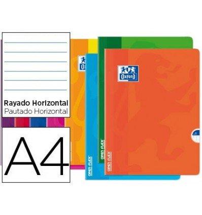 Oxford – Ringbucheinlage Openflex Flexibler Deckel Optik Paper 48 Blätter DIN A4 liniert Horizontal farblich sortiert (10 Stück)