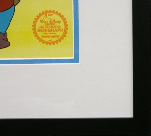Snow White and the Seven Dwarfs Walt Disney Limited Edition Animation Cel, Framed