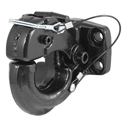 CURT 48215 Pintle Hook Hitch, 30,000 lbs. GTW, Fits 2-1/2-Inch or 3-Inch Lunette Ring, Pintle Mount Required