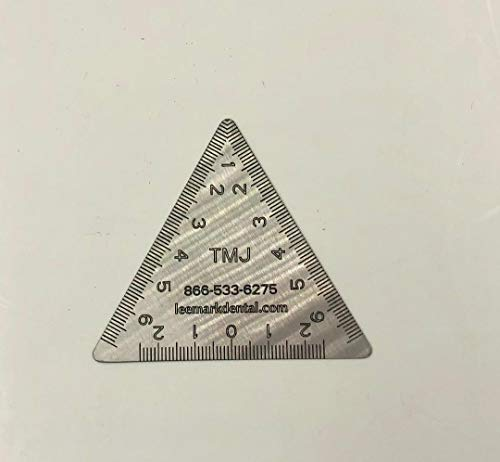 Stainless Steel Dental TMJ Triangular Ruler Instrument by Leemark (Image #1)