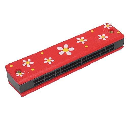 eDealMax Bambino Flower Stampa legno righe doppio 32 Hole dell