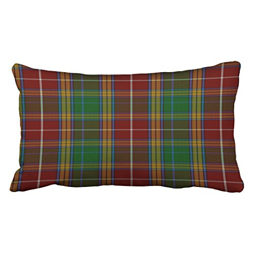 Baxter Sofa - Shorping Zippered Pillow Covers Pillowcases 20X36 Inch clan baxter tartan plaid pillow Decorative Throw Pillow Cover ,Pillow Cases Cushion Cover for Home Sofa Bedding Bed Car Seats Decor