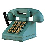 HGXC WY Old-Fashioned Telephone, Props Decoration Living Room Wine Cabinet Decoration Shop Window Display Retro Wrought Iron Art
