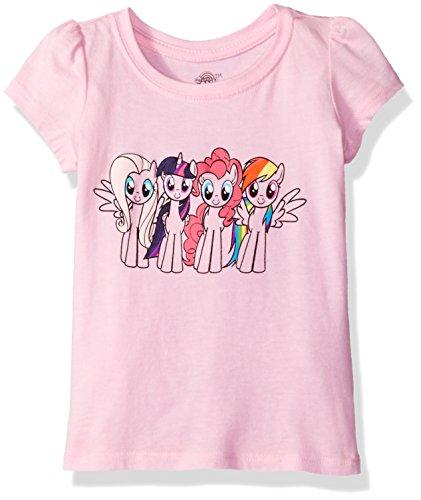 My Little Pony Little Girls' Toddler Short-Sleeved Puff T-Shirt, Pink, 4T
