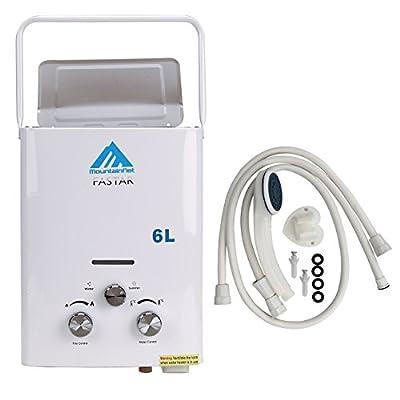 Ridgeyard Portable Propane Gas Tankless Water Heater 6L