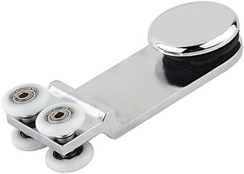 Puerta corredera polea rueda para cristal de baño: Amazon.es ...