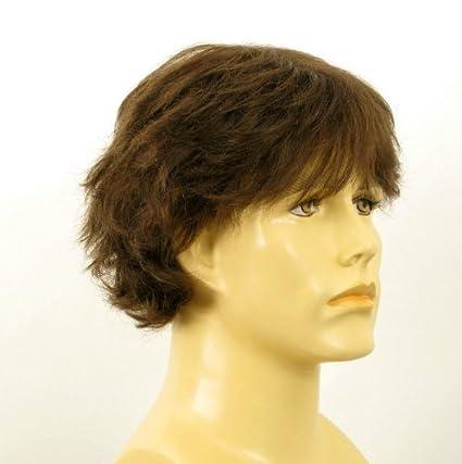 Peluca hombre cabello 100% natural castaña DANY 8