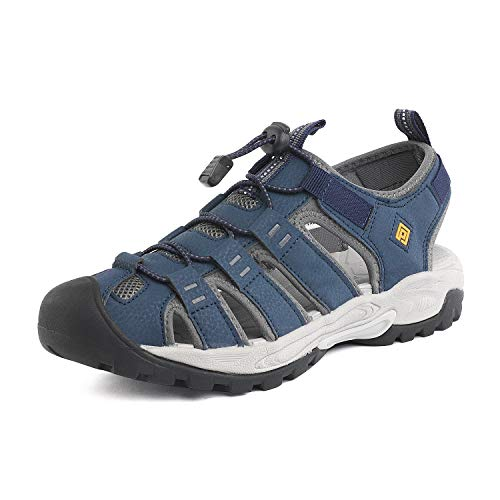 DREAM PAIRS Men's Navy Grey Outdoor Sandals Sport Walking Shoes Size 10 M US 181104M