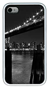 iPhone 4 4s Cases & Covers - New York 7 TPU Custom Soft Case Cover Protector for iPhone 4 4s - White