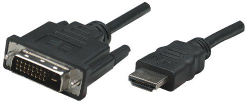Manhattan HDMI to DVI-D Dual Link Cable, 6', Black - Support