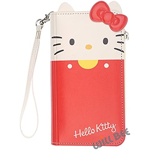 Samsung Galaxy S7 Edge Case HELLO KITTY Cute Diary Wallet Flip Synthetic Leather Anti-Shock Cover (Wallet Body Red (Galaxy S7 Edge)) Sales