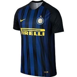 F.C. Inter Maillot de football Inter de Milan- réplique autorisée 2017–2018 pourenfant (tailles 24681012 ans) et adulte (S M L XL)