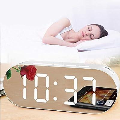XINJIA Despertador, Reloj Digital de Mesa, Despertador ...