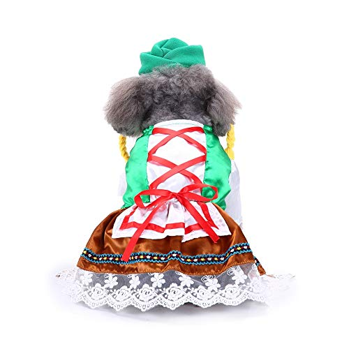 Queenmore Halloween Dog Costume Clothes, Cute Dog Dress for Small Dogs Party Cosplay Doggie Apparel Costume -