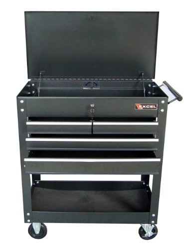 Excel TC400 Four Drawer Tool Cart, Black by Excel