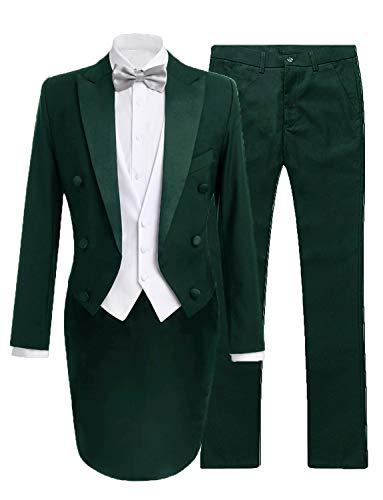 - JYDress Mens 3 Pieces Tailcoat Suit Tail Tuxedo Formal Suit for Men