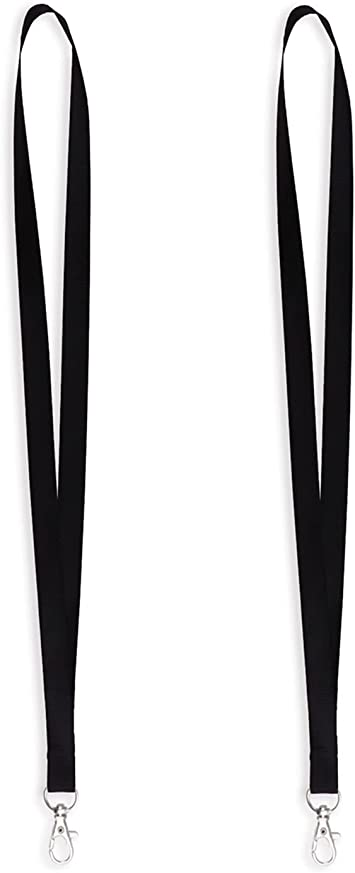 Whistles or ID Badge Black with Diagonal White Arrows Lanyard for Keys
