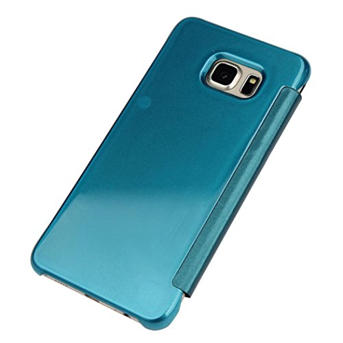 Price comparison product image MNtech New Protective Luxury Mirror Slim Case Cover For Samsung Galaxy S6 Edge Plus (Blue)