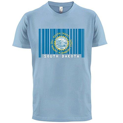 South Dakota / Süd-Dakota Barcode Flagge - Herren T-Shirt - Himmelblau - XS