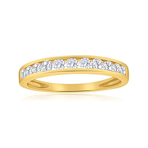 1/2ctw Diamond Channel Wedding Band in 10k Yellow ()