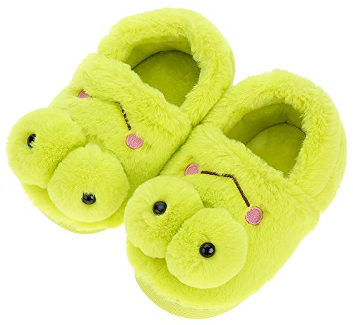 UIESUN Cute Frog Unisex Toddler Kids Slippers Shoes for Boys Girls House Slipper Green 16/17 by UIESUN (Image #6)