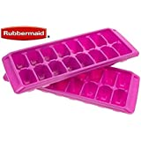 Rubbermaid Easy Release Ice Cube Tray (2 pack, tropical pink)