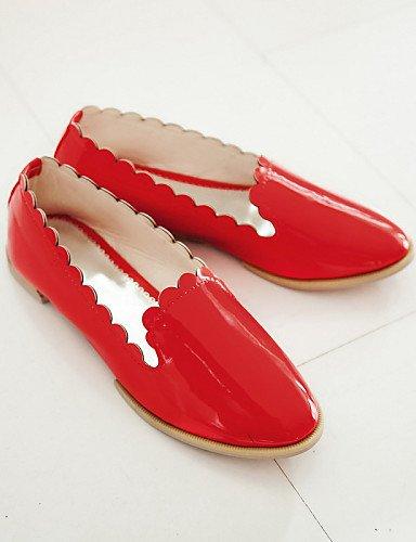 Mocasines Zapatos 7 Green Zq Plano Tacón Amarillo 5 Exterior Rosa Redonda 5 Rojo Mujer Punta us6 Casual Green Cn37 Naranja Uk6 Uk4 De negro Eu39 Cn39 Semicuero us8 5 Gyht Eu37 Rq5w8
