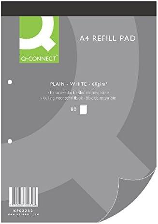 Q-Connect - Bloc de recambio (tamaño A4, 80 hojas, papel ...
