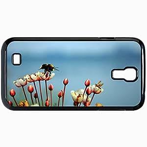 Fashion Unique Design Protective Cellphone Back Cover Case For Samsung GalaxyS4 Case Bee Black