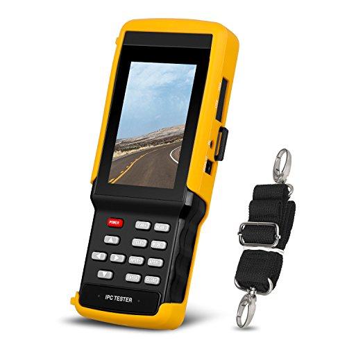 IP Camera Tester CCTV Tester Monitor 4.3 Inch CCTV Camera Tester CVBS Analog Camera Tester withHD-AHD/CVI/TVI//Rapid ONVIF/WIFI/POE/4K H.264/ H.265/PSE/UTP/Firmware Update Upgraded