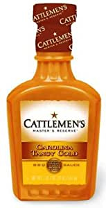 Cattlemen's Barbecue Sauce, Carolina Tangy Gold, 18-Ounce Plastic Bottles (Pack of 6)