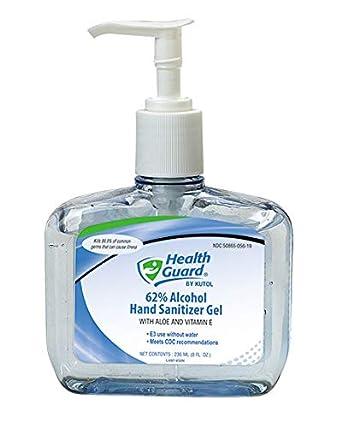 Amazon com: Health Guard 5619 62% Alcohol Hand Sanitizer Gel, 8 oz