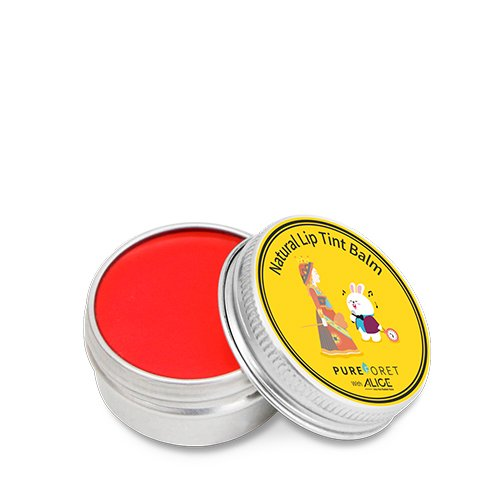 Oil Colour Tint - PUREFORET Natural Color Tint Lip Balm Grapefruit with Alice moisturizer Jojoba Olive Oil Shea Butter Vitamin E Travel Anti oxidant and UV Protection Care Effect chapstick 0.53 Ounce 15g