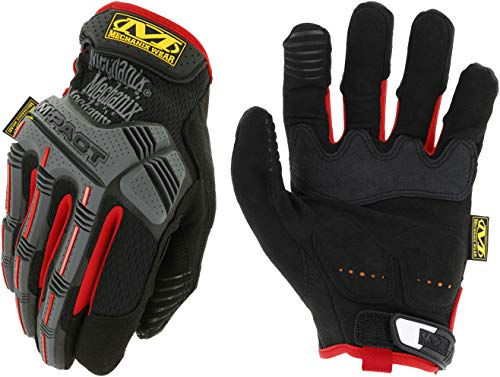 Mechanix Wear - M-Pact Work Gloves (Large, Black/Red) ()