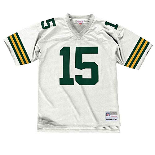 Bart Starr Green Bay Packers NFL Mitchell & Ness White 1969 Throwback Away Road Legacy Jersey Jersey For Men (XL) ()
