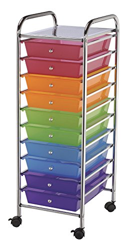 Blue Hills Studio SC10MC Storage Cart 10-Drawer (Standard) Multi-Colored