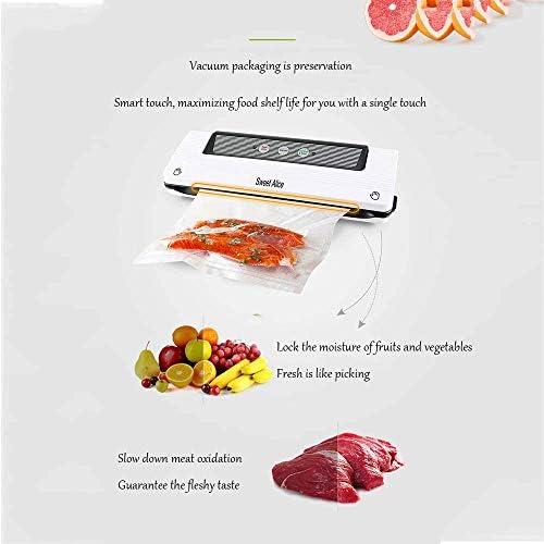 Máquina de envasado al vacío Foodsaver Food, Dry/Wet Moist, Máquina de envasado al vacío automática de un Toque con Manos Libres, Modo Doubel con Bolsa de vacío 28x300CM (220-240V)