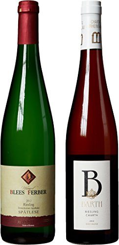 """German Riesling Themed Wine Pairing – """"Hand Selected by America's 1st Master Sommelier"""" – A Comparative Way to Explore Food & Wine! Mixed Pack, 2 x 750 mL"""